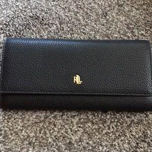 NWOT's Ralph Lauren Black Pebbled Leather Wallet